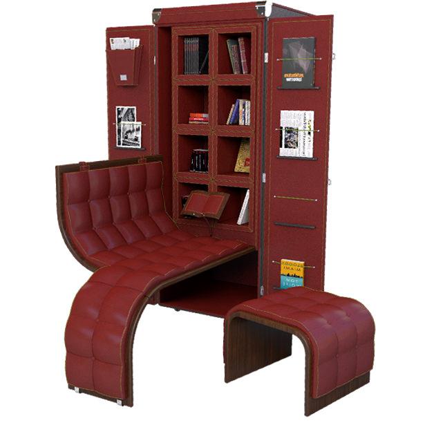 malle biblioth que maltier le malletier. Black Bedroom Furniture Sets. Home Design Ideas